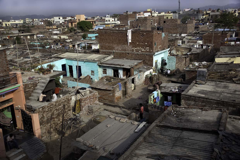 Slum or <em>bustee</em>