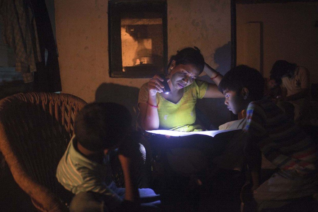 Evening study time is often interrupted by power cuts, which may last a few minutes or all night.