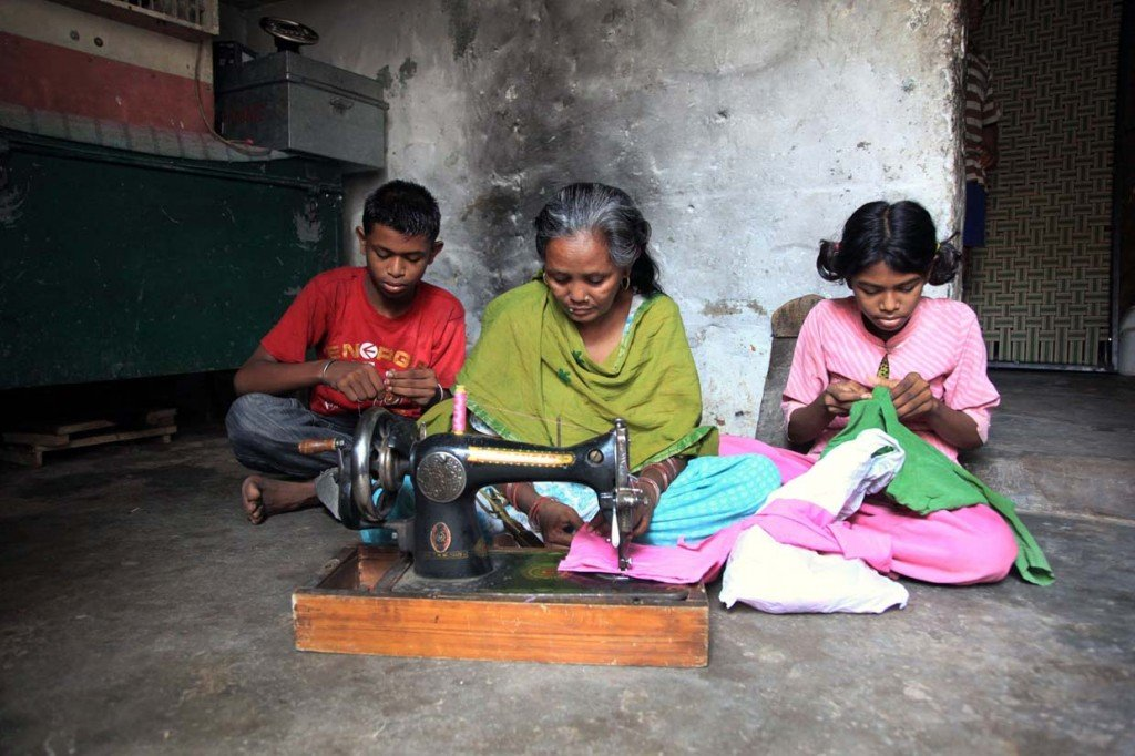 SUCCESS: The opportunity to learn new skills allows women in Janta Colony to earn an income while providing care for their children.