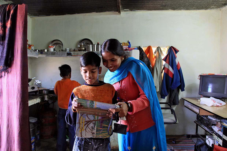Residents of Janta Colony